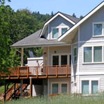 South side faces river.